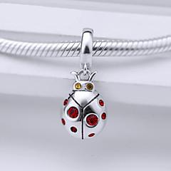 Sterling Silver Bead  S925  Silver Dangle  for European Charm Silver Bracelets Beetle
