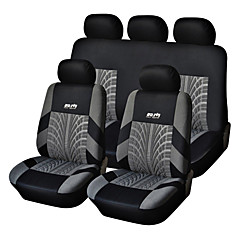 9 PCS Set Car Seat Covers Per Materiale Poliestere tecnologia Heat-Embossed universale Fit