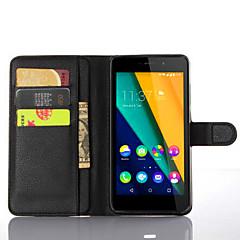 manchon de protection du titulaire du grain de litchi pour la pâte de wiko 4g fabuleux téléphone mobile