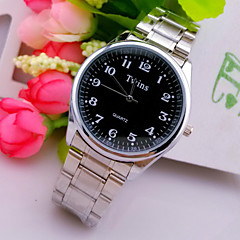 L.WEST Men's Steel Belt Analog Quartz Watch Wrist Watch Cool Watch Unique Watch