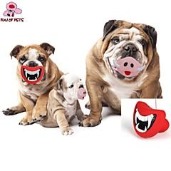 개 반려동물 장난감 씹는 장난감 입술 레드 / 핑크 고무