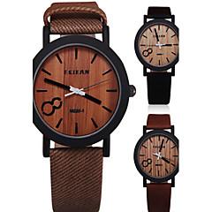 Simulation Wooden Relojes Quartz Men Or Women Watches Wooden Color Leather Strap Watch Wood Male Wristwatch Wrist Watch Cool Watch Unique Watch