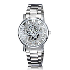 Wristwatches Men Automatic Self-Wind Watch Relogios Masculinos Stainless Steel Skeleton Watches Water Proof Wrist Watch Cool Watch Unique Watch