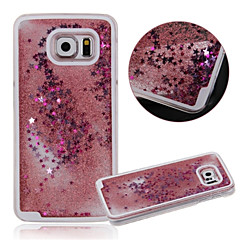 karzea ™ dual layer muovi 3d virtaava neste ylellinen bling glitter tähdet suojakotelo Samsung s6 g9200 (eri värejä)