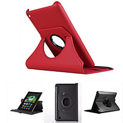 360 Rotating PU Leather Case With Smart Cover Auto Wake/Sleep Feature For Amazon 2015 New kindle Fire HD 7/8/10