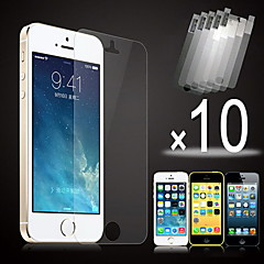 10pcs hd film transparent ecran frontal pentru iPhone 5 / 5s / 5c