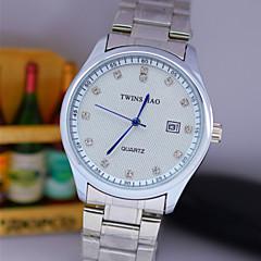 L.WEST Men's Diamonds Steel Belt Analog Quartz Watch Wrist Watch Cool Watch Unique Watch