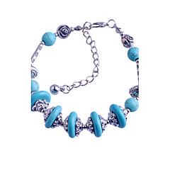 VINTAGE STYLE Turkey Blue Tophus Five Disc + Alloy Bracelet