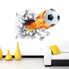 Rajzfilm Romantika Sport 3D Falimatrica 3D-s falmatricák Dekoratív falmatricák,Vinil Anyag Eltávolítható lakberendezési fali matrica