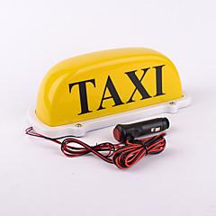3メートルの電源コードとiztoss 12V黄色のタクシートップ防水LEDランプ磁気車の車両インジケーターが点灯