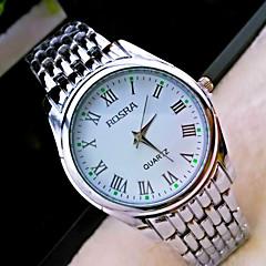 Hombre Reloj de Pulsera Cuarzo Acero Inoxidable Banda Plata Marca-