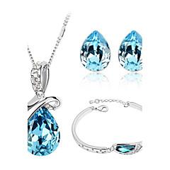 Smycken-Dekorativa Halsband / Örhängen / Armband(Kristall)Födelsedag / Förlovning / Bröllop / Party / Dagligen / Casual Wedding gåvor