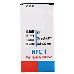 3.7V 3800mAh Li-ion Battery with NFC for Samsung S5 i9600