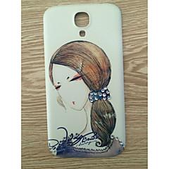 borr och långt hår skönhet mönster pc tillbaka täcker fallet för Samsung Galaxy S4 / 9500