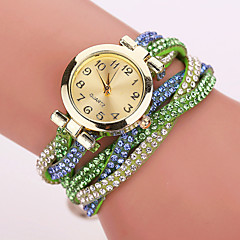 Xu™ Women's Korea Velvet Around Rivets Bracelet Quartz Watch Cool Watches Unique Watches