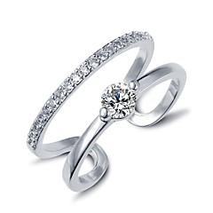 반지 조절 가능 결혼식 / 파티 / 일상 / 캐쥬얼 보석류 지르콘 여성 문자 반지 1PC,조절가능