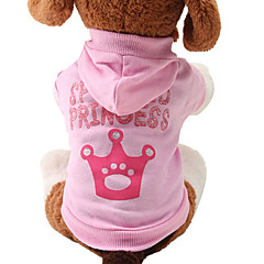 Cat / Dog Hoodie Pink Dog Clothes Spring/Fall Tiaras & Crowns Cute / Fashion