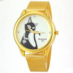 diseño del gato de la aleación de oro reloj de pulsera de cuarzo de la venda de la pareja