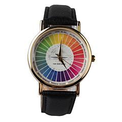 Herren / Damen / Unisex Armbanduhr Quartz PU Band Schwarz Marke-