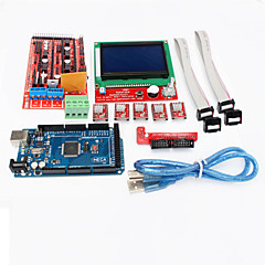 3d printer controller ramper 1.4 + mega2560 r3 + 5 x a4988 + lcd12864 controller board for 3d printer