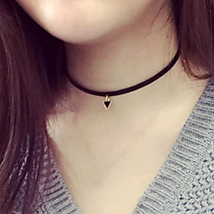 Necklace Choker Necklaces Jewelry Party / Daily / Casual Fashion Leather Black 1pc Gift