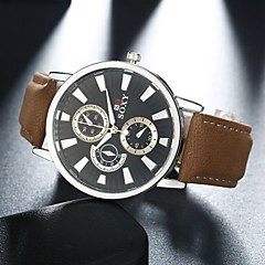 Fashion Business Stainless Steel Leather Men's Watch Wrist Watch Cool Watch Unique Watch