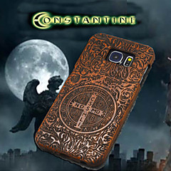 Natural Wood Samsung Case Constantine Exorcism Cross Carving Concavo Convex Back Cover for Galaxy S6 edge+/S6 edge/S6