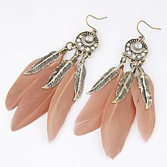 Dames Druppel oorbellen Modieus PERSGepersonaliseerd Europees Kostuum juwelen Veer Legering Bladvorm Veer Sieraden Voor Feest Dagelijks