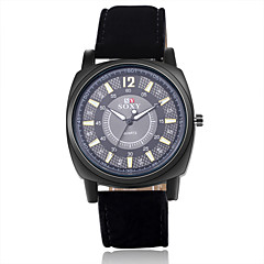High Quality Precise Business Gold Plate PU Leather Strape Watch with Exquisite Quartz Watch for Men
