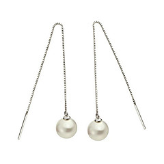 Earring Earrings Set Jewelry Women Wedding / Party / Daily / Casual / Sports Sterling Silver / Imitation Pearl 1 pair Silver