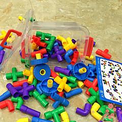 assemblage des tuyaux en plastique de grands jouets de bricolage coffret bâtiment du kit de construction de blocs (88pcs)