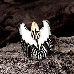 指輪 ファッション パーティー ジュエリー スチール 女性 ステートメントリング 1個,ワンサイズ ブラック