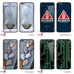 "iphone 6 plus / 6s plus konst klistermärke: ""timglas, girlfirend inte hittas, småsten fotavtryck, kretskort"" (kreativa serien)"