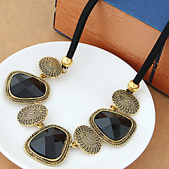 Women's Statement Necklaces Resin Alloy Statement Jewelry Classic Silver Golden Jewelry Party Daily Casual 1pc