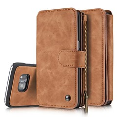 Genuine Leather Cover Multi-functional Cards Holder Wallet Case For Samsung Galaxy S7 S7 edge S6 edge plus
