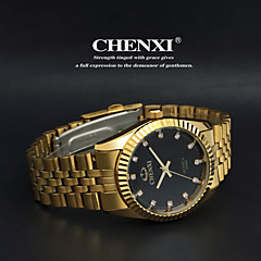 Men's Classic Business Style Gold Steel Strap Quartz Watch