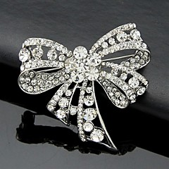 Kadın Broşlar Moda sevimli Stil kostüm takısı Kristal Bowknot Shape Mücevher Uyumluluk Düğün Parti Özel Anlar Doğumgünü Günlük