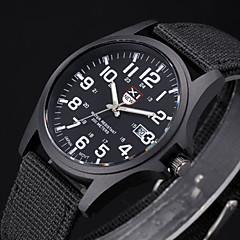 Masculino Relógio Militar Relógio de Pulso Quartzo Tecido Banda Preta Branco Marrom Verde Preto Marron Verde Azul Branco-Preto