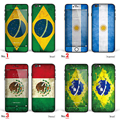 """iPhone 6/6S Body Art Skin Sticker: """"Brazil, Argentina, Mexico"""" (Flags Series)"""