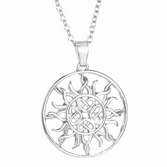 The Hollow Circle Europe Sun Flower Pendant Necklace Of Personality