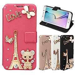 For Samsung Galaxy Note Card Holder / Wallet / Rhinestone / with Stand / Flip Case Full Body Case Geometric Pattern PU Leather Samsung