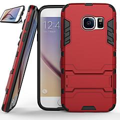 Modelele suport de gel de silice Combo PC de război armura de protecție caz telefon pentru Samsung Galaxy S6 / S6 margine / margine + S6 /
