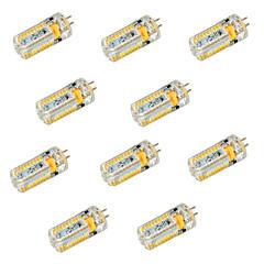 6W G4 LED Bi-Pin lamput T 72 SMD 3014 600 lm Lämmin valkoinen / Kylmä valkoinen Koristeltu DC 12 / AC 12 / AC 24 / DC 24 V 10 kpl