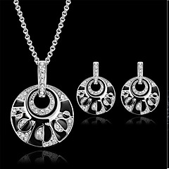 European Crystal / Alloy Jewelry Set Wedding / Party / Daily / Casual 1set