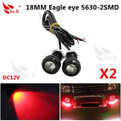 LED Eagle Eye Daytime Running DRL Backup Light Fog Car Auto Red 12V 18MM 9W X 2