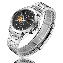 Men's Watch  LAGMEEY High-Grade Fashion Steel Strip Full Automatic Mechanical Platinum Shi Earth Watch Wrist Watch Cool Watch Unique Watch