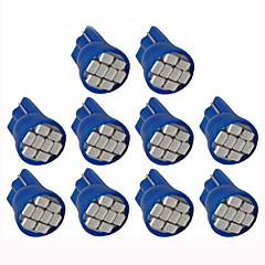 lorcoo ™ 10stk førte billygter pære t10 3528 4-smd 194 168 (hvid, blå)