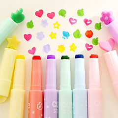 1PC Creative Multifunction Candy Colors Written Singular Fluorescent Pen Color Marker(Random color)