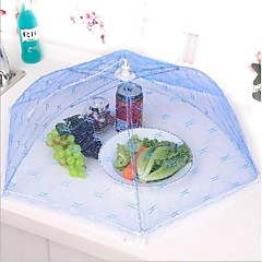 Kitchen Party Table Food Storage Cover Folding Umbrella Mesh Lace Metal Frame Random Color