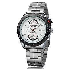 CURREN® Men's Racing Style Dress Watch Japanese Quartz Stainless Steel Strap Cool Watch Unique Watch